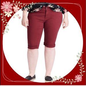 Plus Size CHAPS Twill Bermuda Shorts